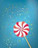 Lolly pop funny background. Graphic illustration Stock Images