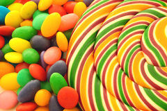 Lolly pop and sweets stock image