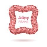 Lolly rood kader stock illustratie