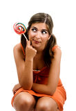 lollypop девушки Стоковое фото RF