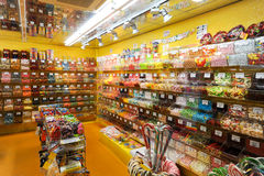 Lollypop candy shop at Bern on Switzerland Royalty Free Stock Images