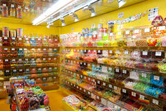 Lollypop candy shop at Bern on Switzerland Royalty Free Stock Photos