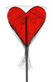 Lollypop en forme de coeur Image stock