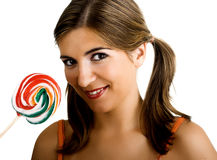 Lollypop Girl Royalty Free Stock Image