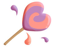 Lollypop love Stock Photography