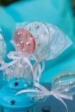 Lollypops en linterna de la turquesa Fotografía de archivo