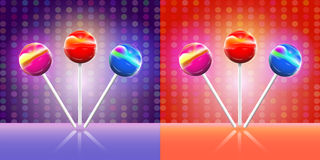 Lollypops. Vector illustration Royalty Free Stock Image