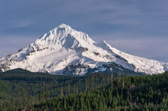 从Lolo通行证的Mt敞篷在俄勒冈1 库存图片