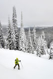 Lolo Pass snowshoeing Stock Photography