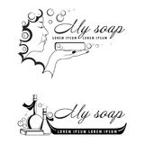 Lolotype for soap maker royalty free illustration
