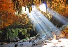 Loltun grotta Arkivbilder