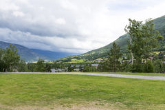 Lom city in Oppland. Beautiful landscape of Lom city in Oppland, Norway Royalty Free Stock Photography