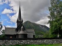 Lom-houten kerk van 12de eeuw Royalty-vrije Stock Afbeelding