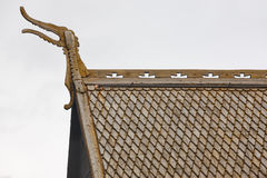 Lom medieval stave church roof detail. Viking symbol. Norway tou Stock Images