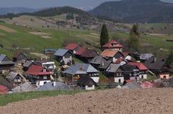 Lom nad Rimavicou. Village Lom nad Rimavicou in Veporske vrchy mountains, Slovakia Royalty Free Stock Image