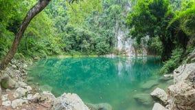 Lom Phu Kiew是一个鲜绿色水池 Lampang神秘的秀丽  库存照片
