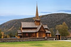 Lom Stave Church. In Fossbergom, Oppland, Norway Stock Image
