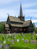 Lom Stave Church in Norway. Lom Stave Church in the city centre of Lom in the Gudbrandsdal district in Oppland county, Norway Stock Images