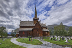 Lom stave church - stavkirke - medieval temple, Norway, Lom. Europe Royalty Free Stock Photography