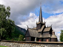 Lom-wooden church of 12th century Stock Photo
