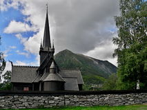 Lom-wooden church of 12th century Royalty Free Stock Image