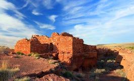 Lomaki废墟, Wupatki国家历史文物,亚利桑那 免版税库存图片