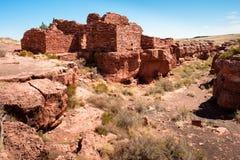 Lomaki-Pueblo-Ruinen lizenzfreies stockfoto