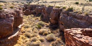 Wupatki National Monument near Flagstaff, Arizona, preserves and protects this ancient Anasazi ruin, called Lomaki Pueblo Royalty Free Stock Photos