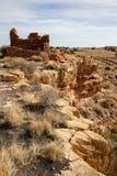 Wupatki National Monument near Flagstaff, Arizona, preserves and protects this ancient Anasazi ruin, called Lomaki Pueblo Stock Photos