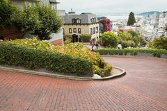 Lombard Crooked Street Royalty Free Stock Images