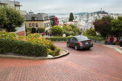 Lombard Crooked Street Stock Images