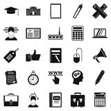 Lombard icons set, simple style. Lombard icons set. Simple set of 25 lombard vector icons for web isolated on white background Royalty Free Stock Photos