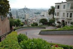 Lombard-Straße in San Francisco Lizenzfreies Stockfoto