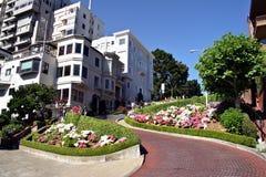 Lombard-Straße, San Francisco Lizenzfreies Stockbild