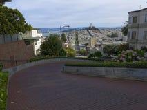 Lombard-Straße in San Francisco Stockbild