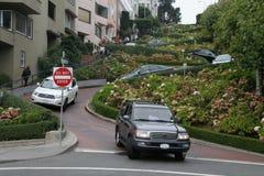 Lombard-Straße San Francisco Stockfotografie