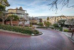 Lombard-Straße - San Francisco, Kalifornien, USA Lizenzfreie Stockfotografie