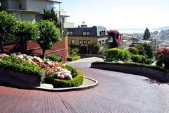 Lombard Straat, San Francisco Royalty-vrije Stock Afbeeldingen