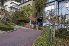 Lombard straat in San Francisco, Californië Royalty-vrije Stock Afbeelding