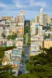 Lombard Straat van San Francisco Stock Afbeeldingen