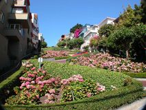 Lombard street. San Francisco; also known as the crookedest street in the world royalty free stock photography