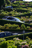 Lombard Street, the crookedest street in the world, San Francisco, California Royalty Free Stock Images