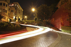 Lombard street. The famous Lombard street at night in San Francisco, California Royalty Free Stock Photography