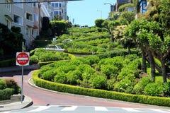 Lombard street on Russian hill, San Francisco Stock Image