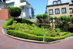 Lombard street on Russian hill, San Francisco Royalty Free Stock Photography