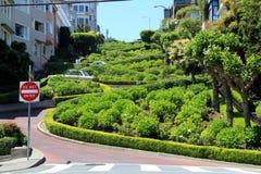 Lombard street on Russian hill, San Francisco Royalty Free Stock Photo