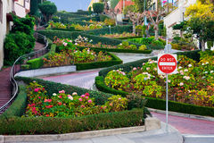 Lombard Street in San Francisco Stock Images