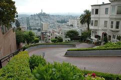 Lombard Street in San Francisco Royalty Free Stock Photo