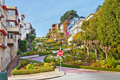 Lombard Street in San Francisco. Famous Lombard Street, San Francisco, California Stock Photos