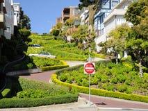 Lombard Street in San Francisco. California US Stock Photo
